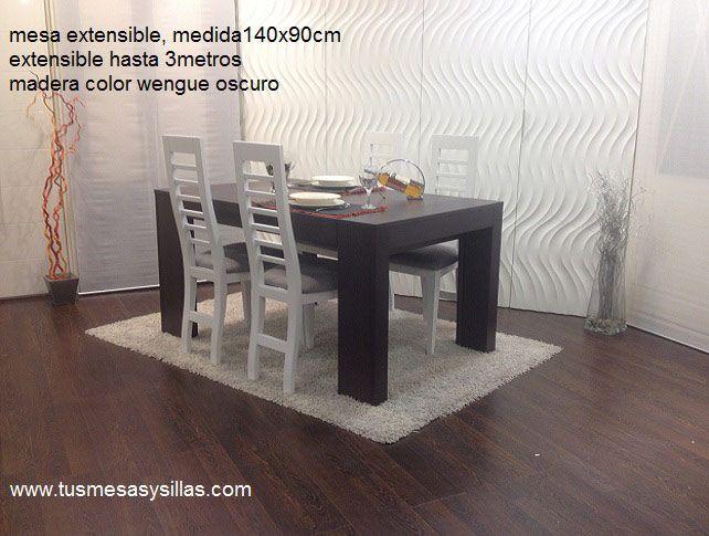 Mesa Comedor Wengue Extensible.Mesa De Comedor En Color Wengue En Medida De 140x90 Y