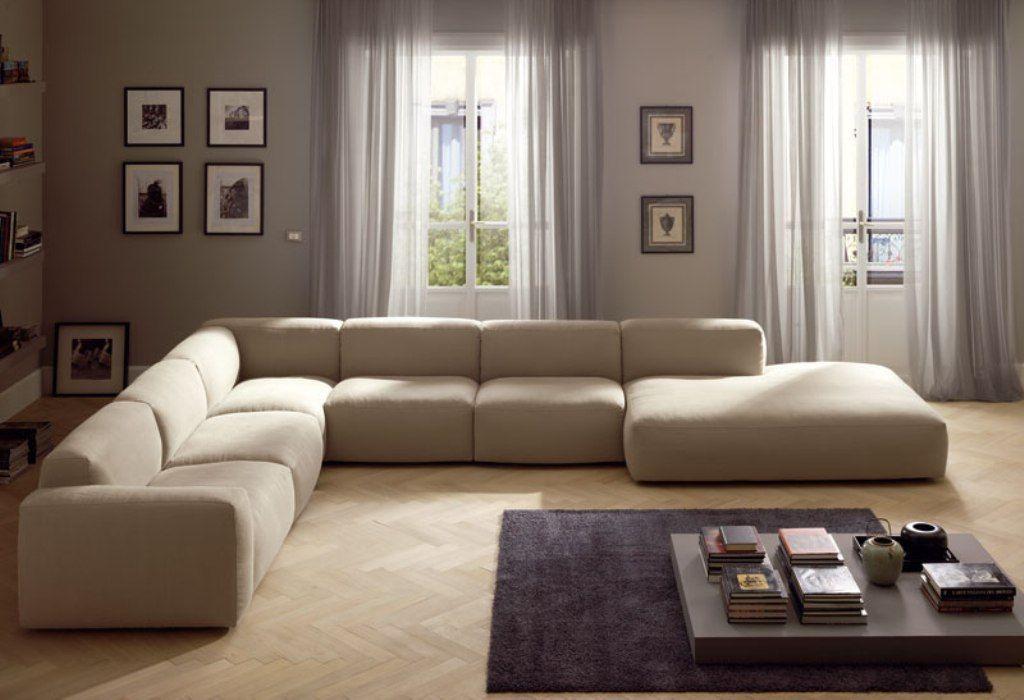 Divano grande ~ Divano angolare componibile in tessuto collezione beauty by