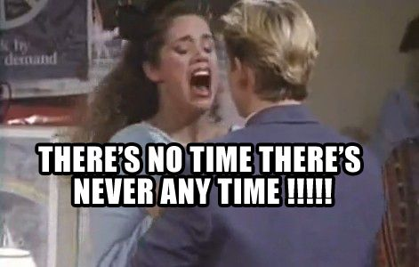 Image result for jessie spano there's never enough time