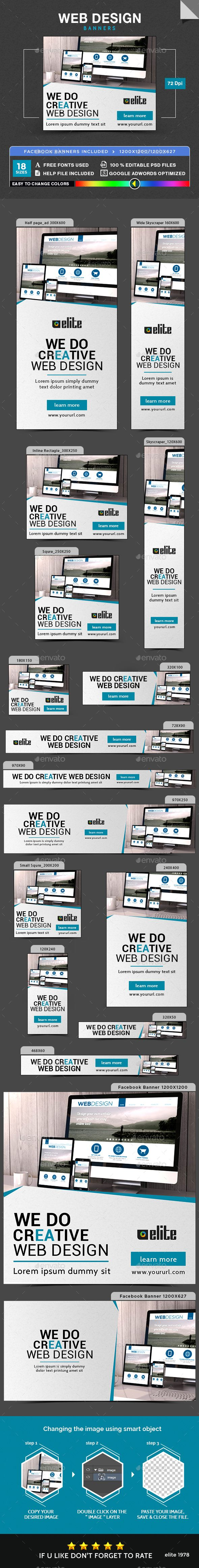 Web Design Banners | Banners, Banner template and Template