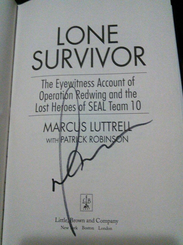 Marcus Luttrell Lone Survivor Book
