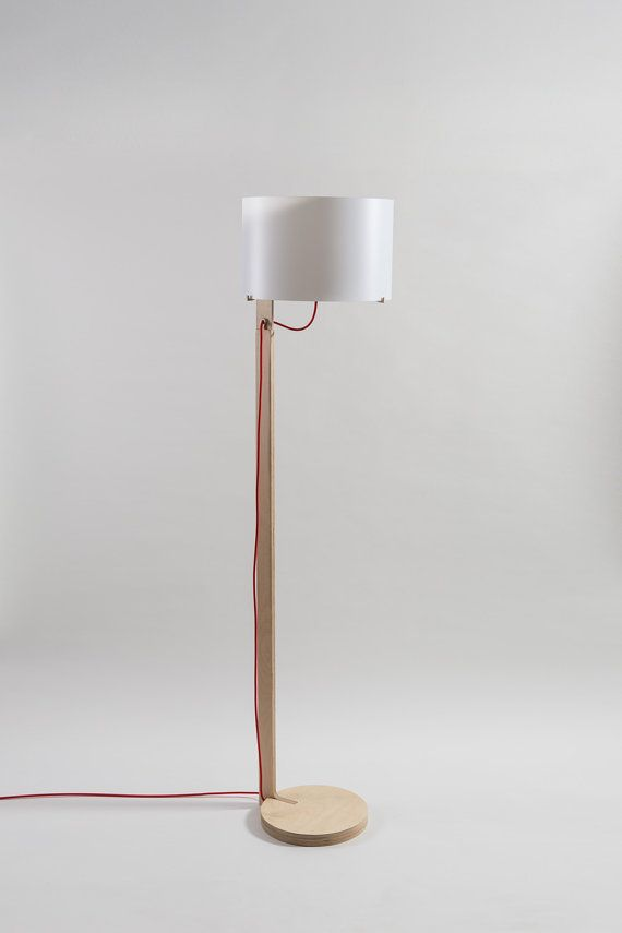 EOS - Wood floor lamp in finnish birch plywood / Lampada piantana in ...