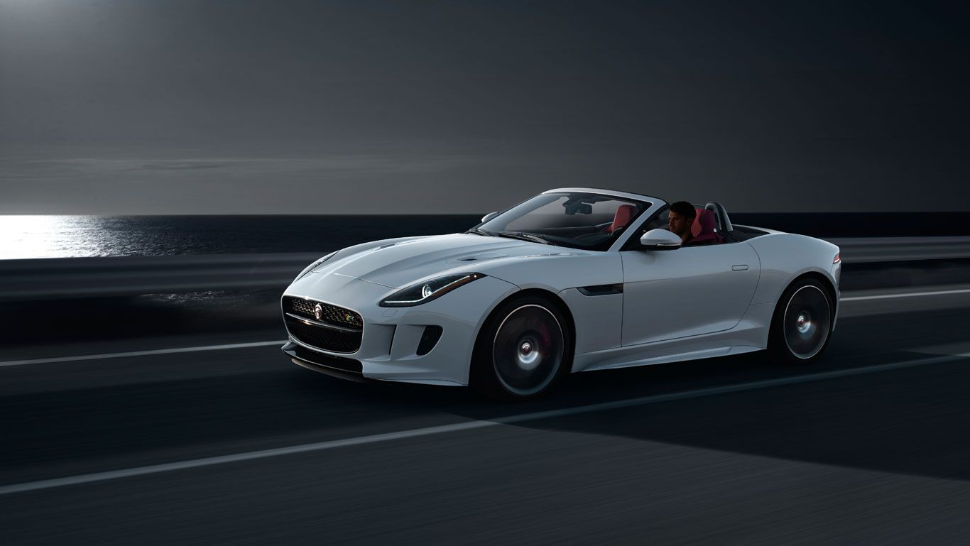 Jaguar F Type R Convertible Glacier White With Optional Black Pack And Red Leather Interior Pack Jaguar F Type Jaguar Usa New Jaguar F Type