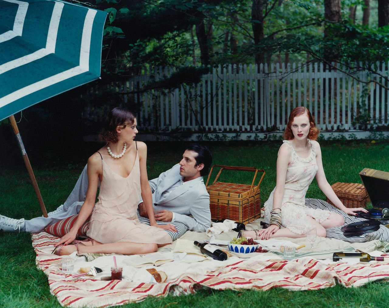 9 stylish pieces to grab and go for the ultimate picnic Photographed by Arthur Elgort, Vogue, November 2003