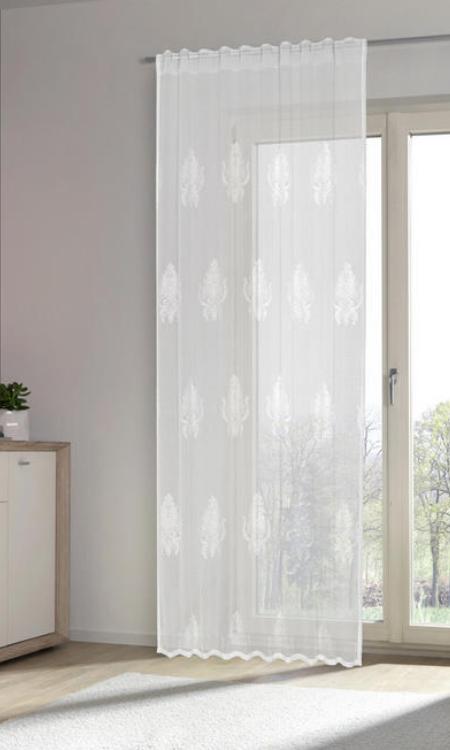 Fertigvorhang Weiss Kombiband Halbtransparenter Vorhang