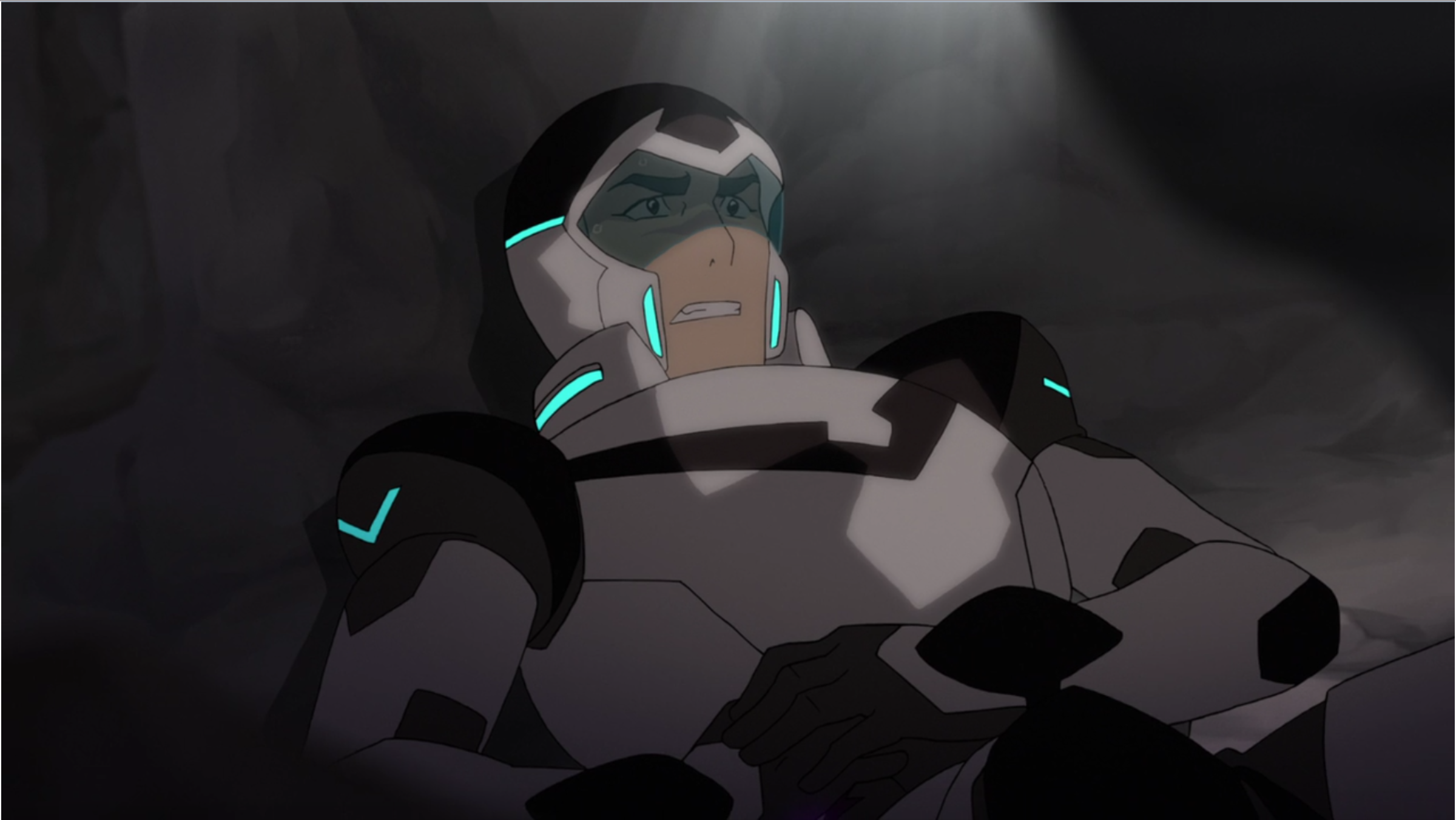 Shiro Being Trapped In The Cave From Voltron Legendary Defender