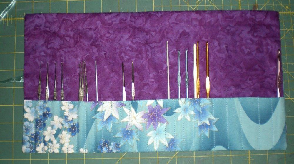 Knitting Needlecrochet Hook Roll Tutorial Sewing Pinterest