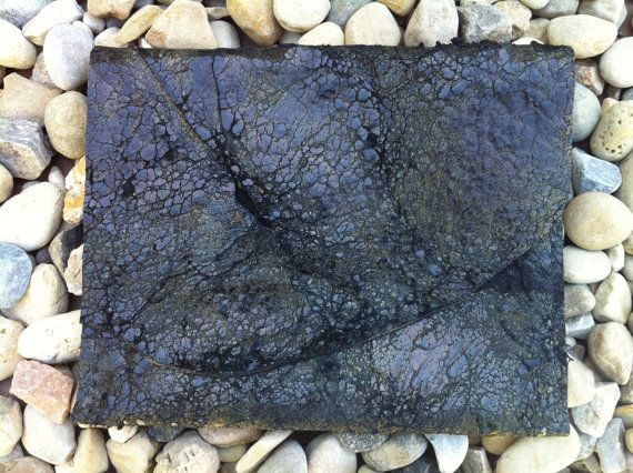 Black Leather Crackle Clutch 3 by LeatherFeatherStone on Etsy, $98.00