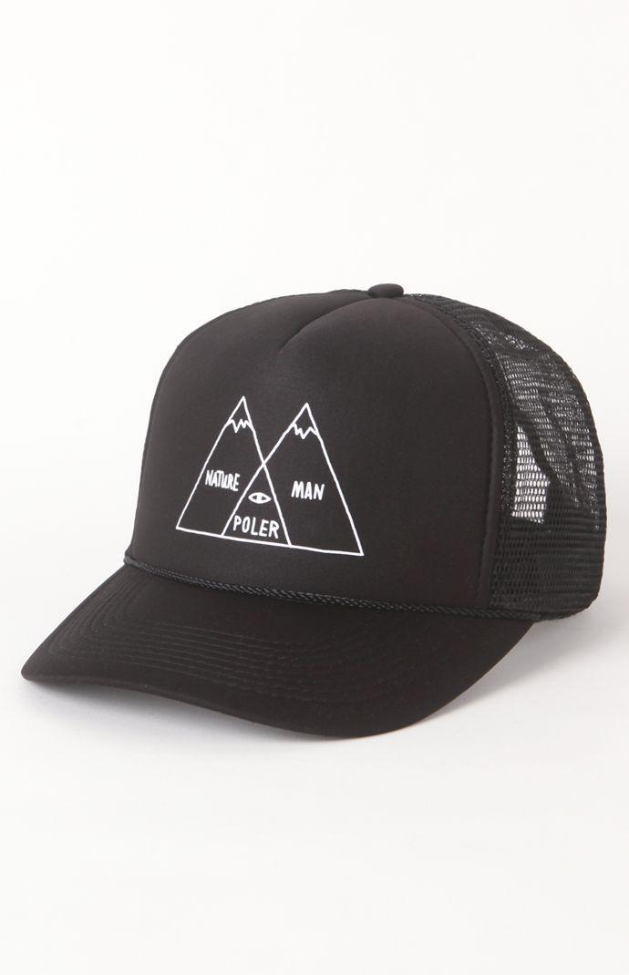 Click Image Above To Purchase  Mens Poler Backpack - Poler Venn Diagram  Black Trucker Hat 315ddd78bf5c