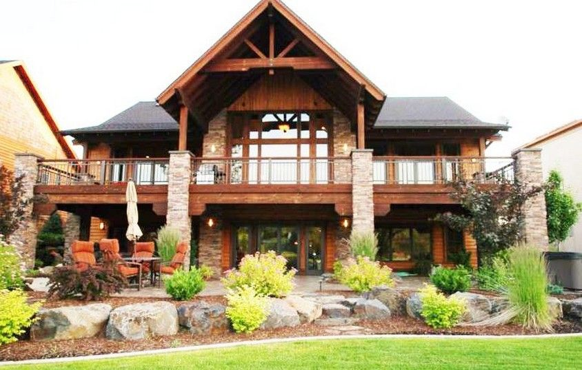Walk out basement house plans alberta exterior home for Mountain house plans with basement