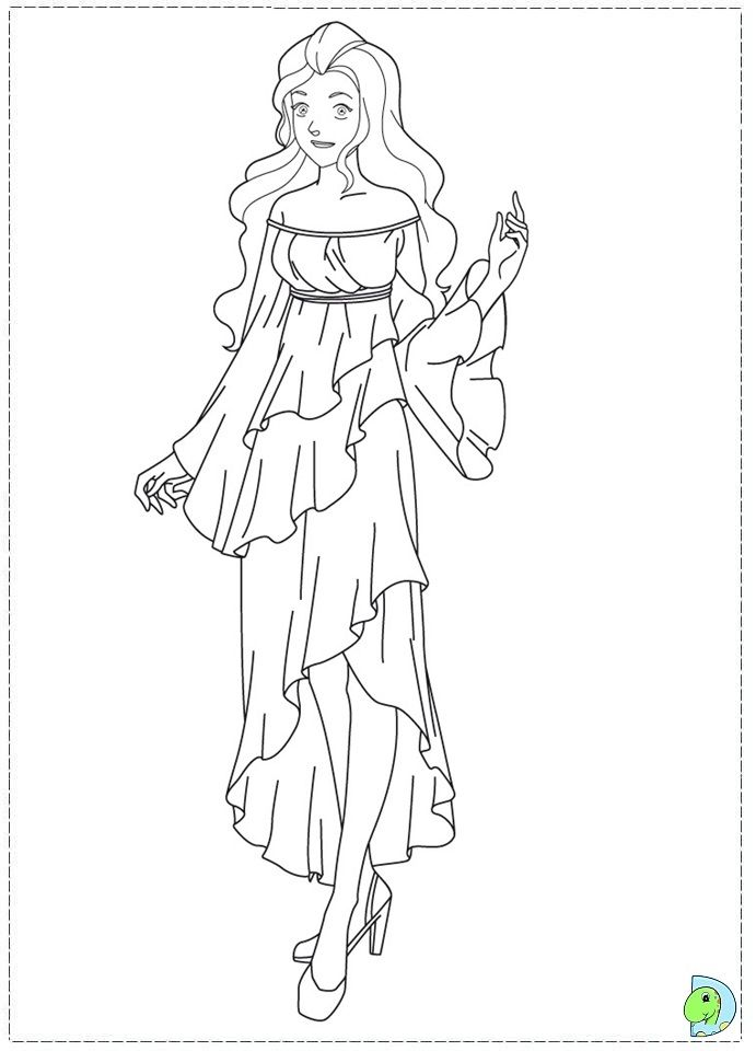 Totally spies coloring pages- DinoKids.org | Barbie coloring pages, Coloring pages, Barbie coloring