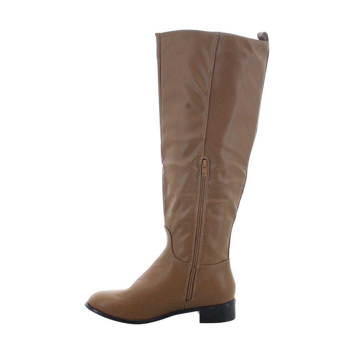 Hooked - Women's Plain Riding Boot - Mushroom