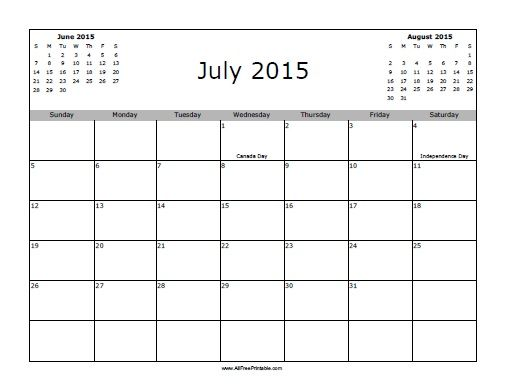 July 2015 Calendar Printable Word - Get an exclusive collection of - calendar template on word