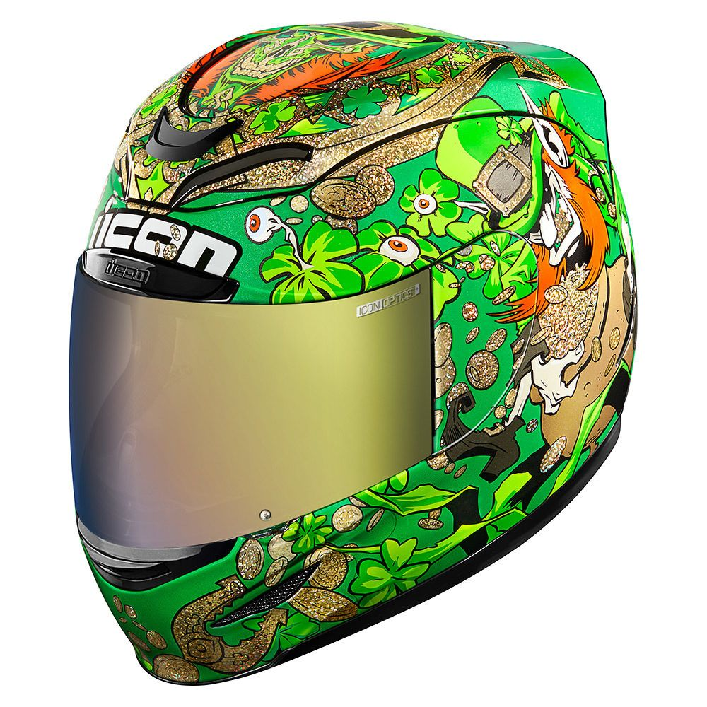Lepricon Green Helmets Icon Motosports Ride Among