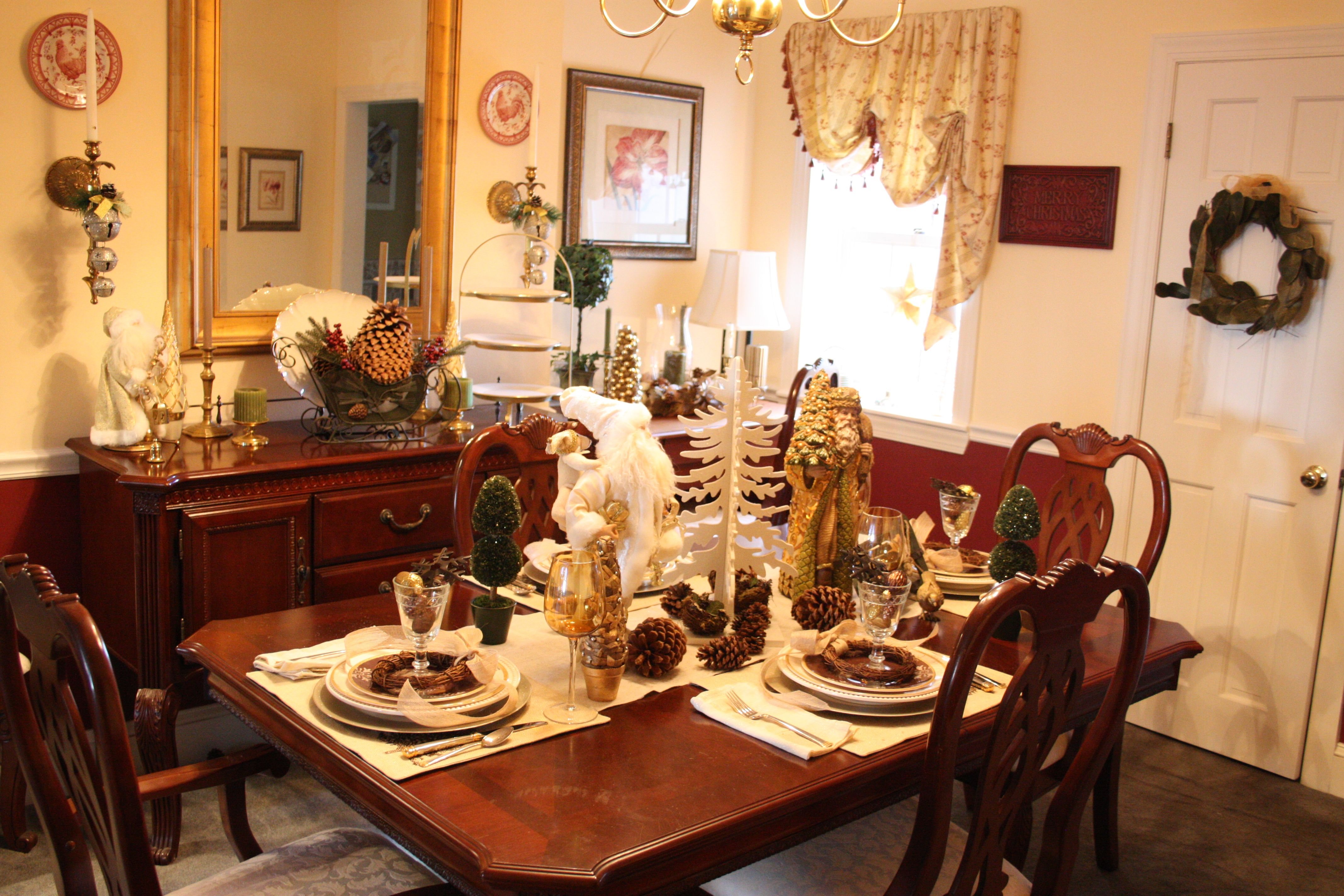 Christmas Tablescape A Natural Winter Wonderland