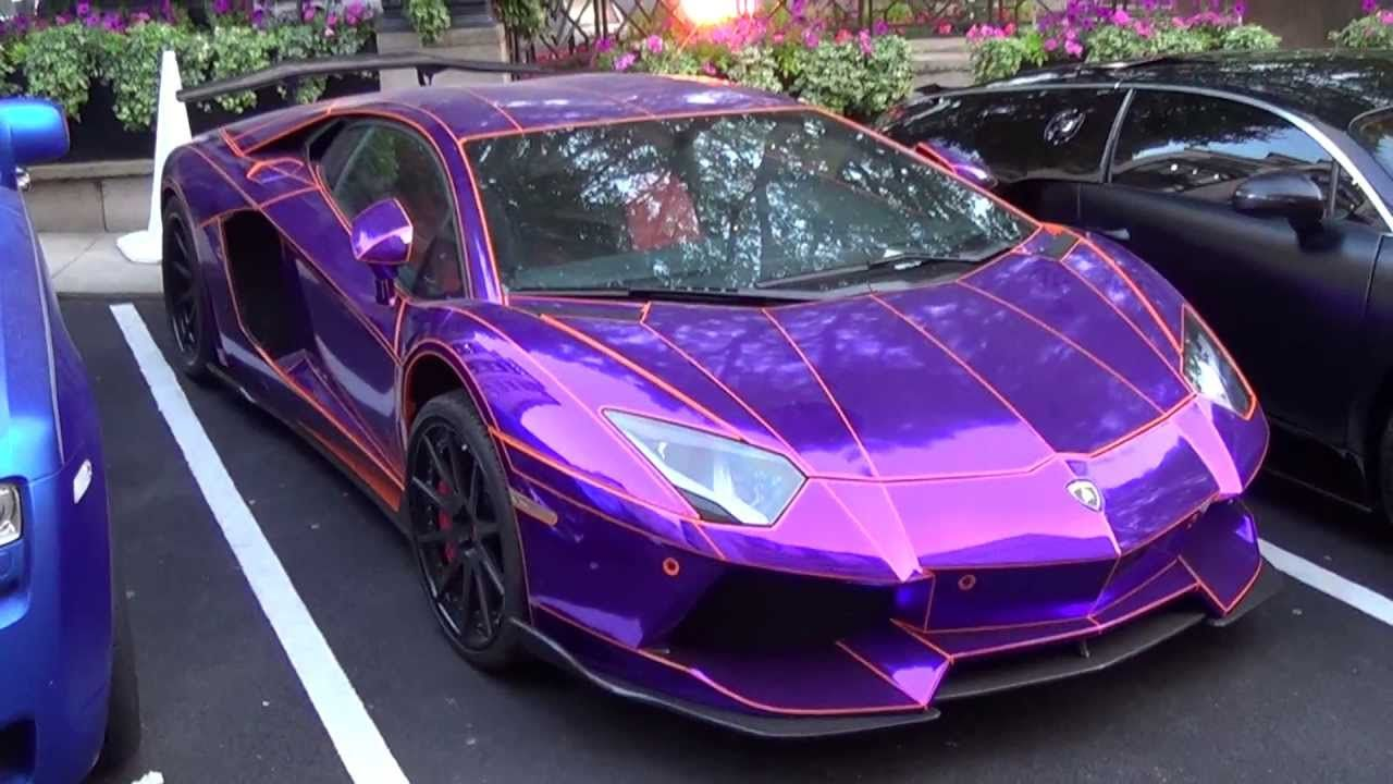 Chrome Purple With Orange Outlines