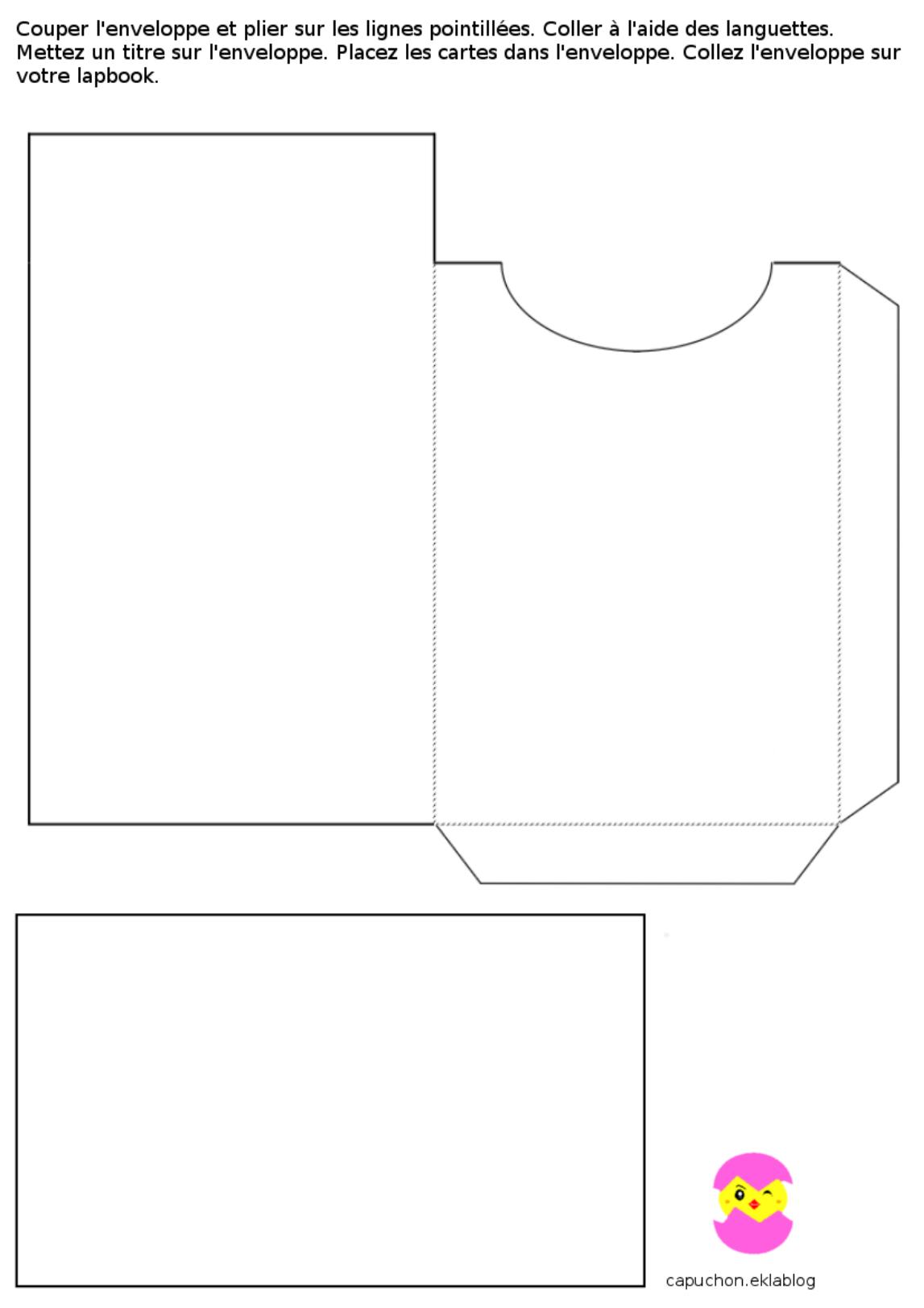 Lapbook Capuchon A L Ecole Printable Collage Sheet Print Planner Homemade Envelopes
