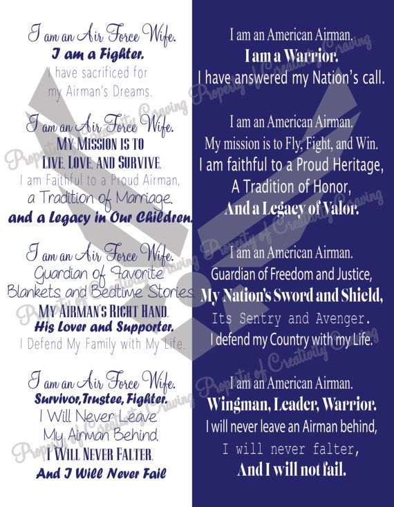 Printable 8x10 air force wife airmans creed instant download air printable 8x10 air force wife airmans creed by creativitycraving thecheapjerseys Images