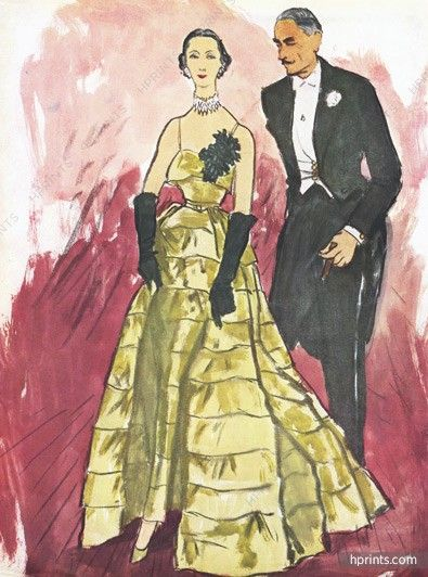 Eric, 1950 | The Art of Fashion - Illustration | Pinterest