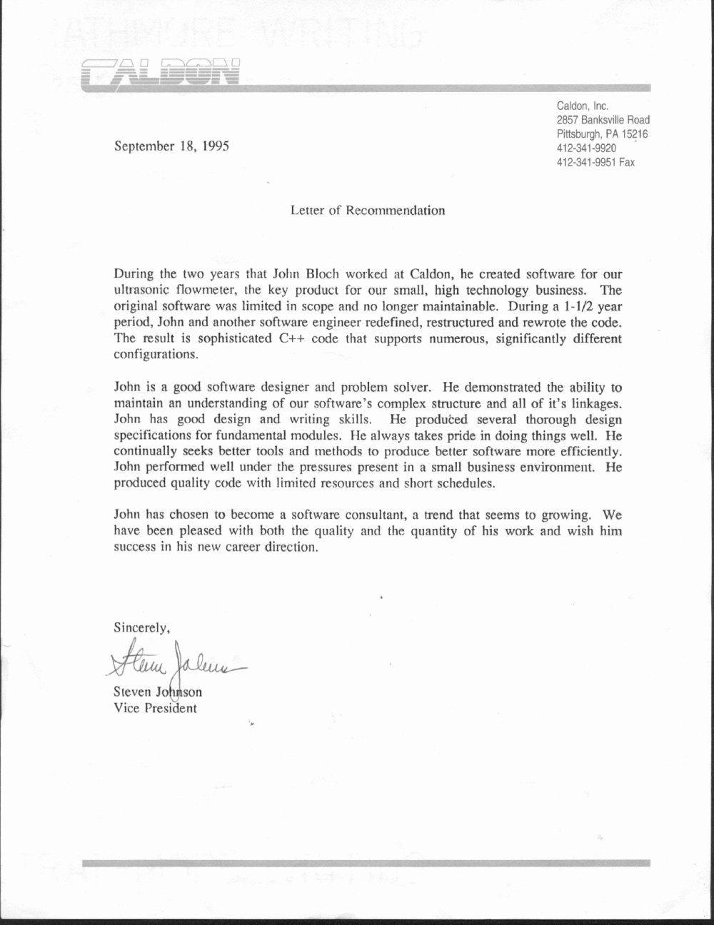 Resume for Letter Of New Letter Re