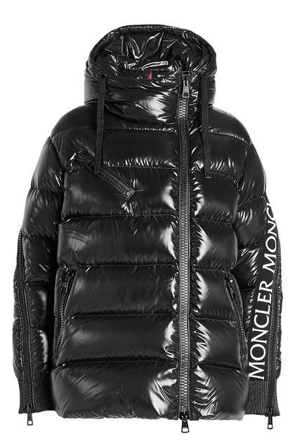 MONCLER X STYLEBOP In a glossy black lacquered finish with