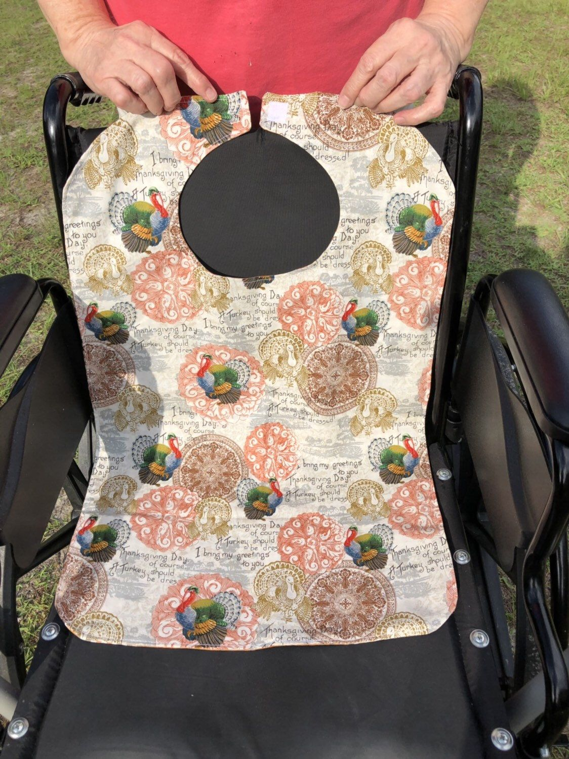 Alzheimer/'s gift or mature bib gift for mom or dad. Wine glass Adult dignity bib is a great nursing home gift or special needs gift