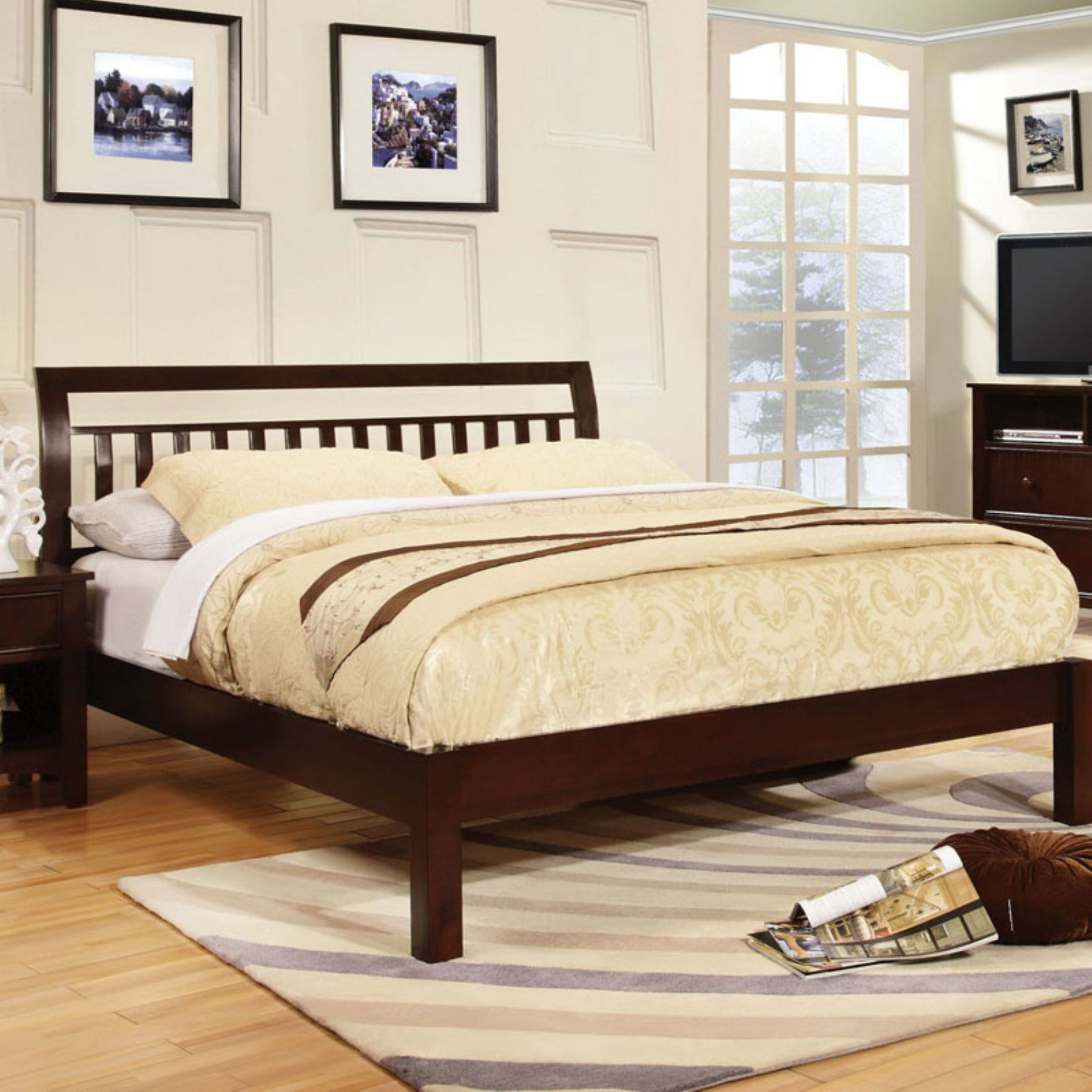 Furniture of America Bridgeville Platform Bed Slatted