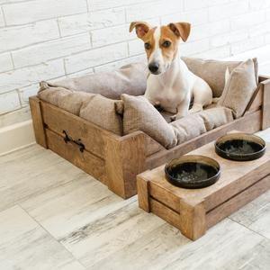 Digital Plans Wooden Dog Crate Entertainment Center DIY Dog Kennel Furniture