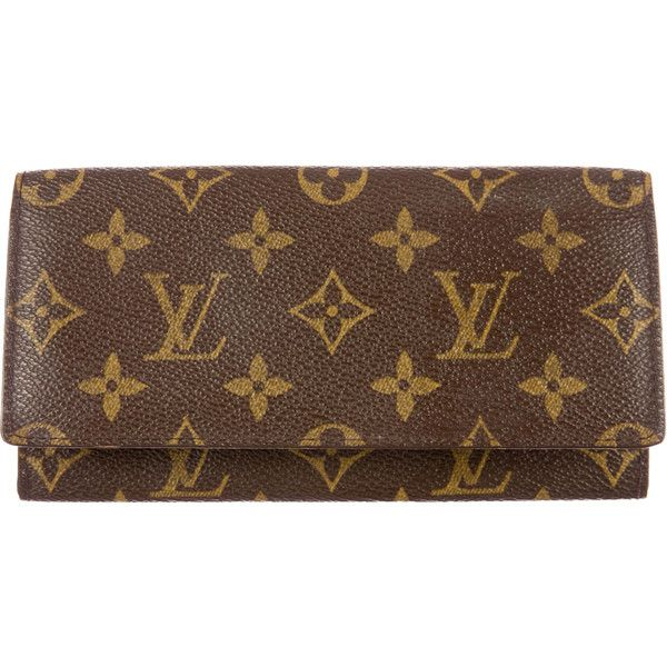 Pre Owned Louis Vuitton Monogram Envelope Wallet 295 Liked On Polyvore Featuring Bags Wal Louis Vuitton Sarah Wallet Louis Vuitton Louis Vuitton Monogram
