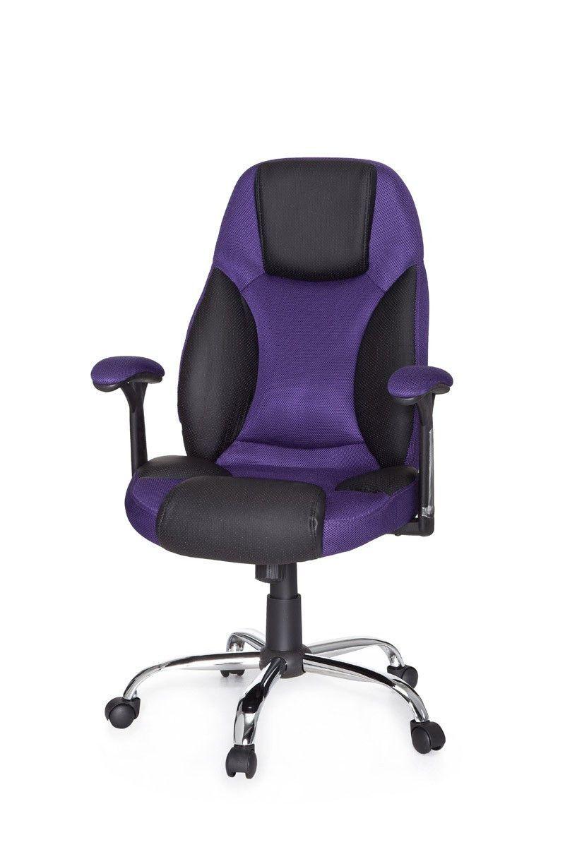 Soldes Chaise De Bureau Pivotante En Tissu Et Simili Cuir Coloris