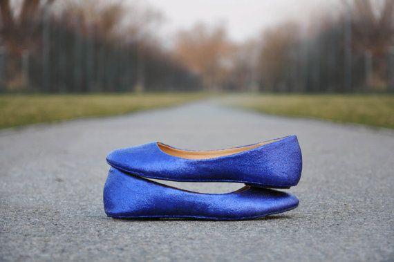 Wedding Flats Royal Blue Wedding Flats Royal Blue By RagzDagzTM