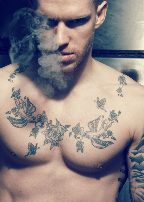 Thats Very Nice There So Many Options Its Hard To Pick Sometimes I Like This One Http Www Gilstattoos With Images Bird Tattoo Men Chest Tattoo Men Cool Chest Tattoos