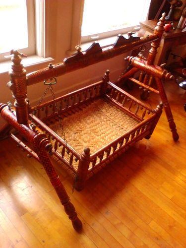 wooden baby cradle swing design