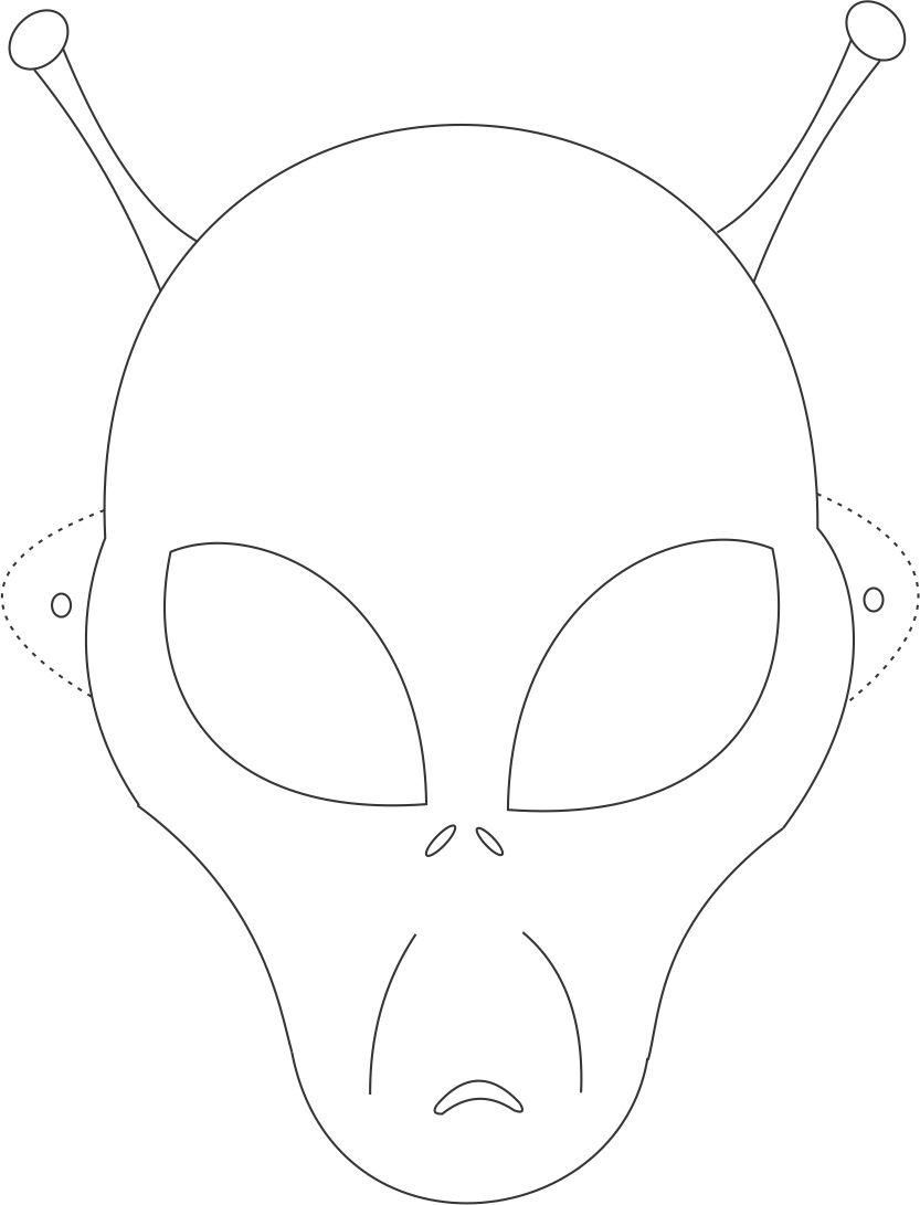 alien mask printable coloring page for kids kids crafts u0026 fun
