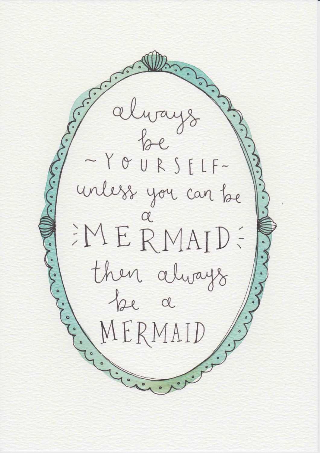 Mermaid Quote T For Kids And Babies Baby Girl Nursery
