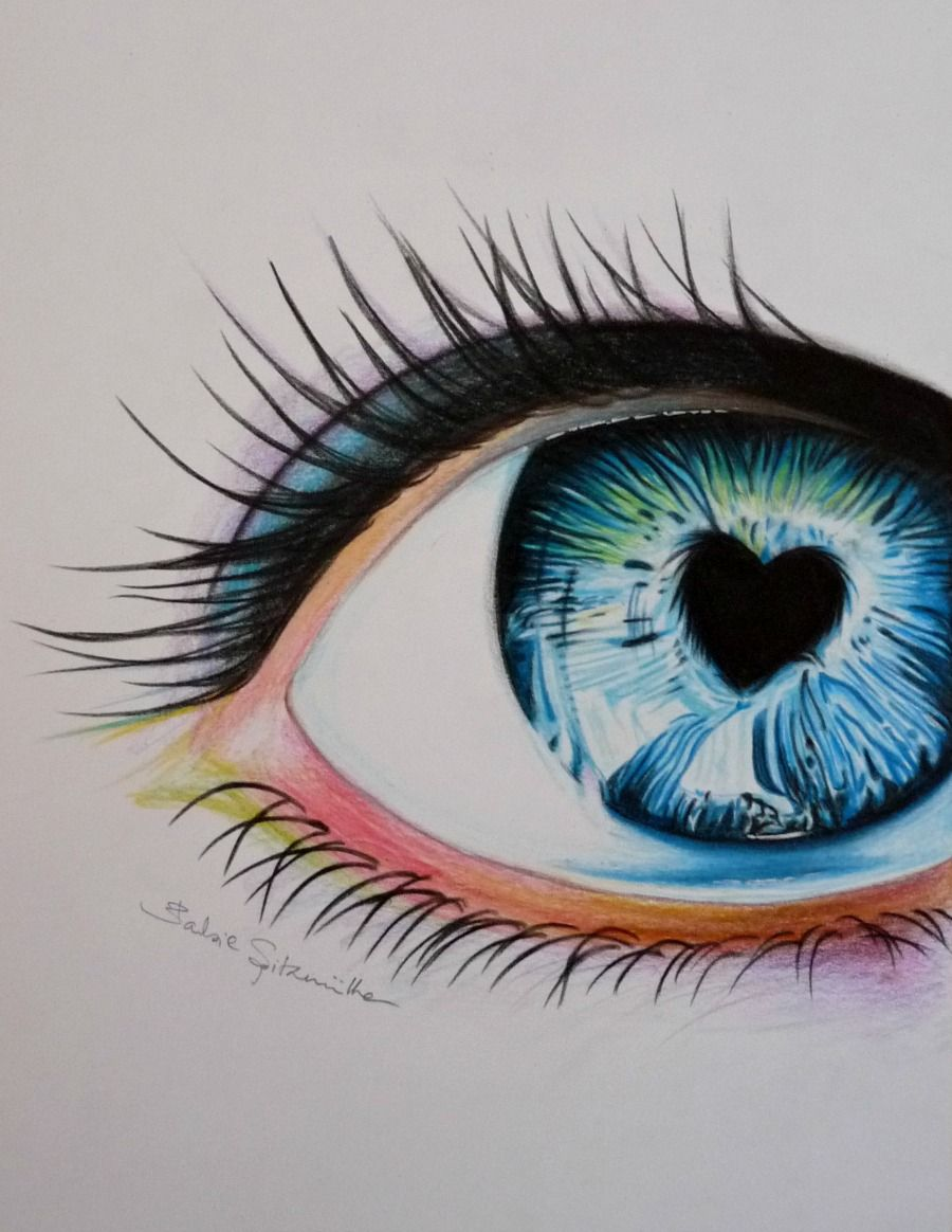 colored pencil eye drawing by barbiespitzmuller.deviantart on