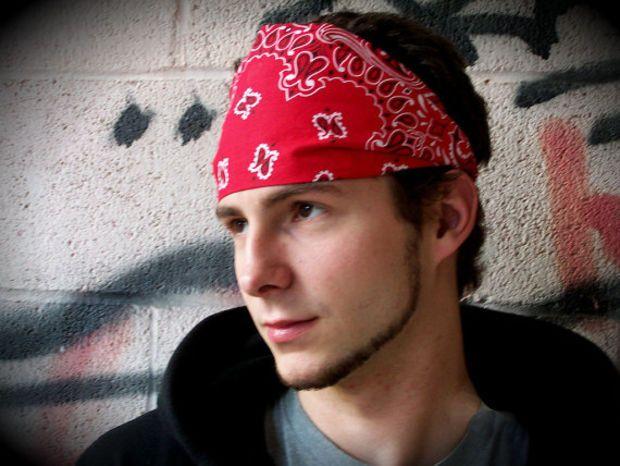 SMALL Red Men s Headband c55d4ef624f