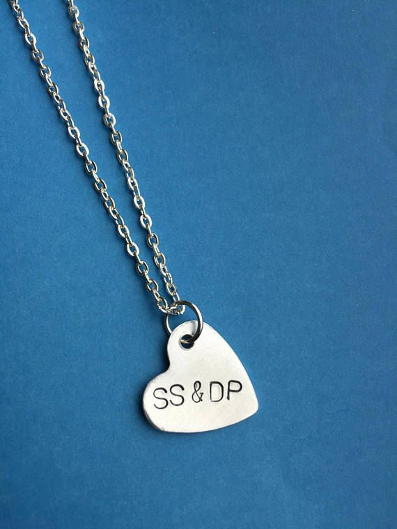 Bridesmaids Necklaces Heart Sideways Gift To Wife