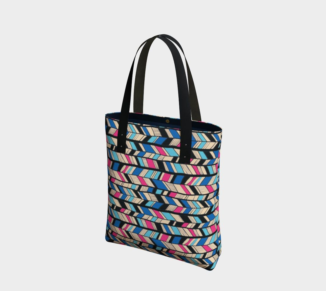Abstract Crisscross Pattern Print Design Gym Bag