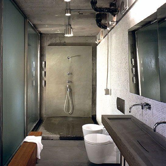 Bad modern gestalten mit Licht | Kleines bad ideen, Glaswände und ...