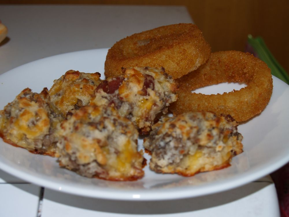 BACON CHEESEBURGER BALLS #tailgatefood