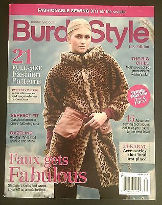 BURDA STYLE Magazine WINTER 2015 FAUX GETS FABULOUS Fashion Sew ...