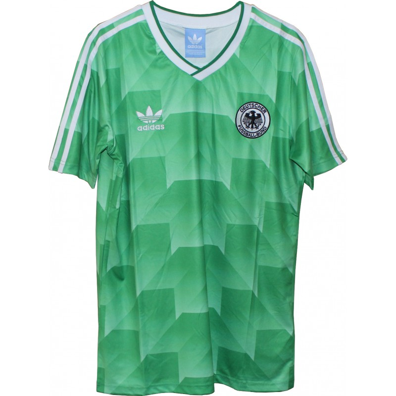Germany World Cup 1990 Retro Jersey Green Color