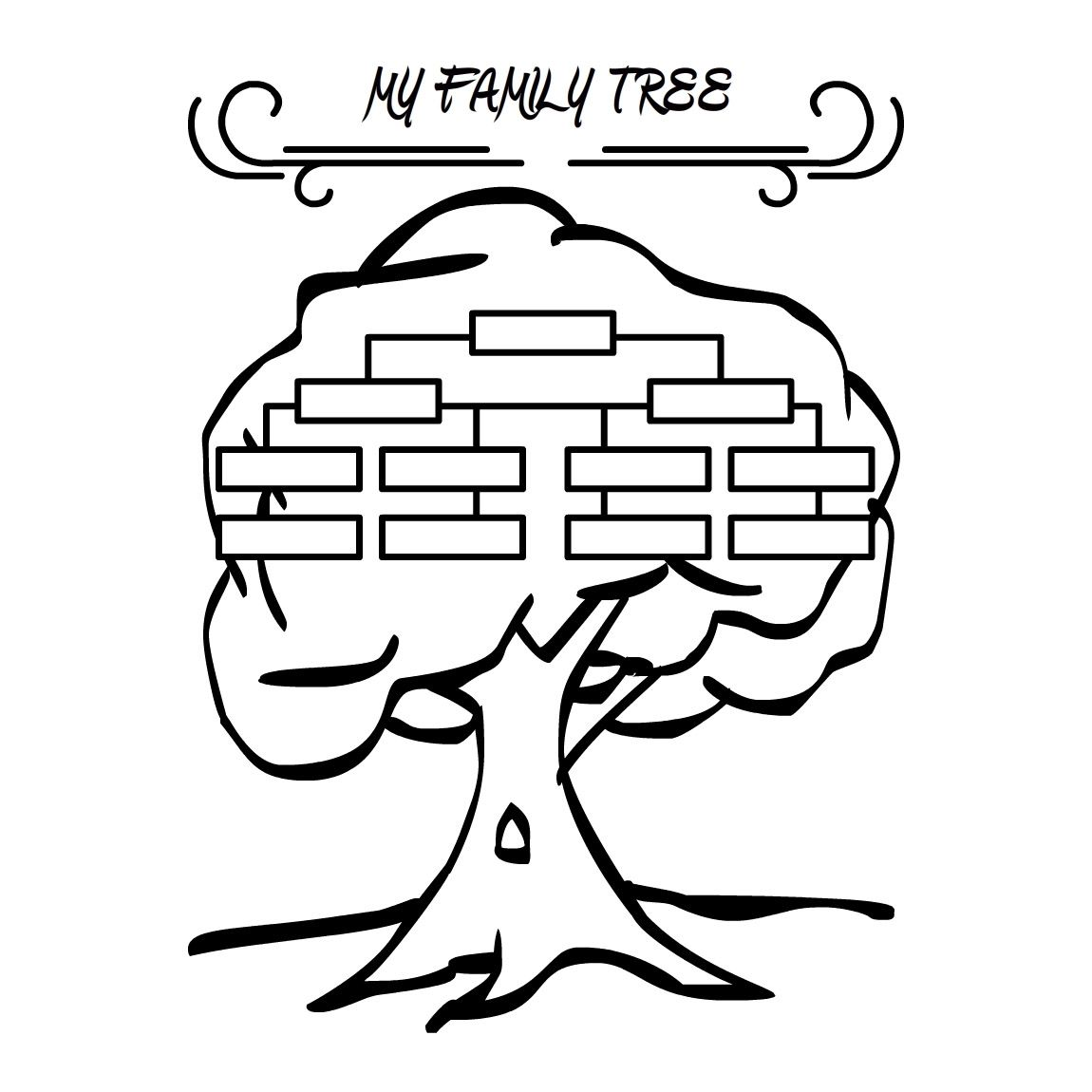 Family Tree Coloring Pages Picture 2