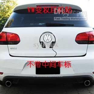 for VW Jetta mk6 Volkswagen sedan 2x car silhouette stickers