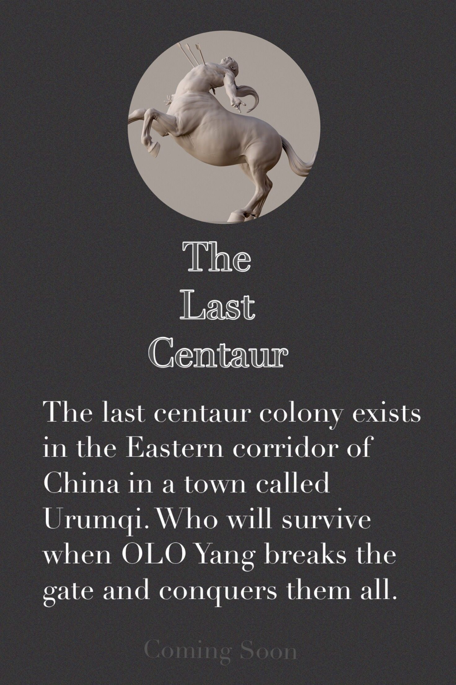 Reading of the e-book about the magic of centaurs in Urumqi at www.bulliesaway.com