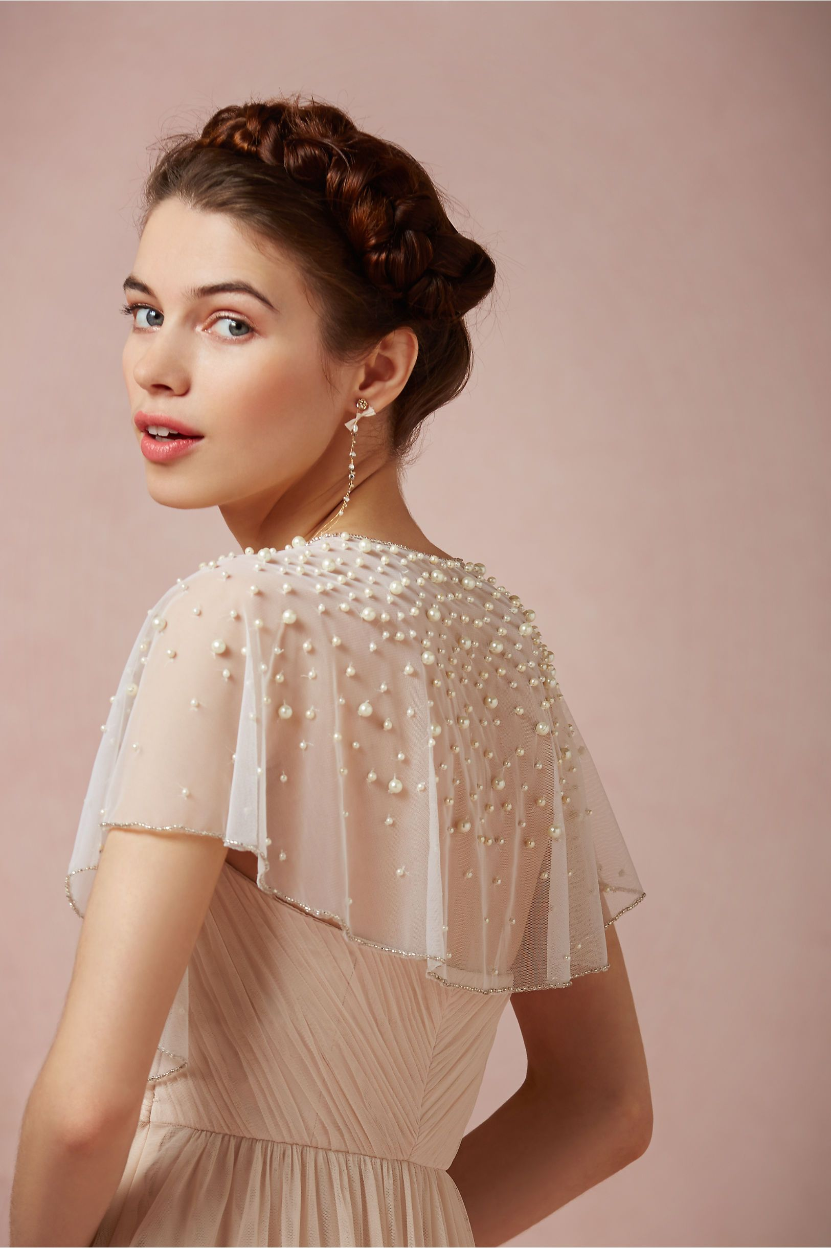 bde8510da28049 Scattered Pearl Capelet from BHLDN