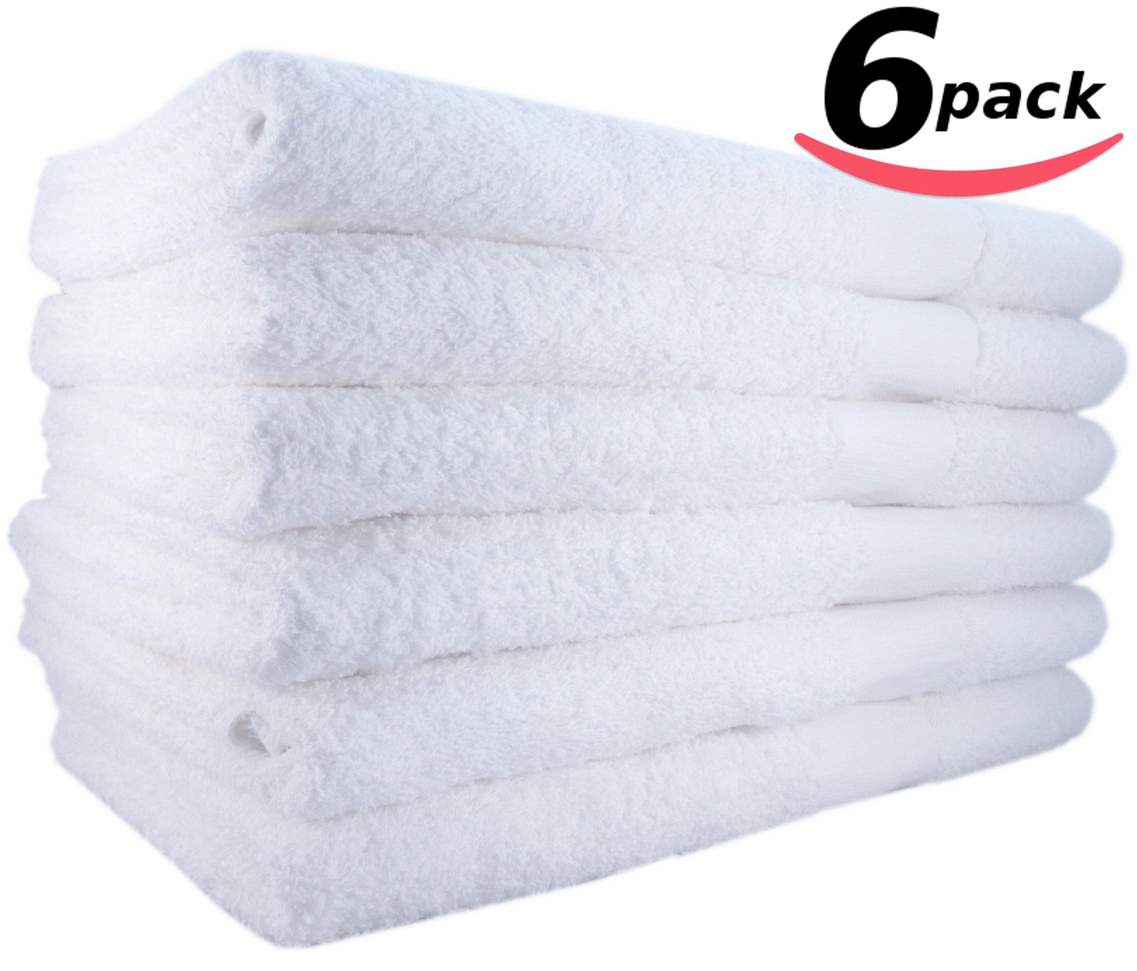 HotelSpaPoolGym Cotton Hair & Bath Towel 6 Pack