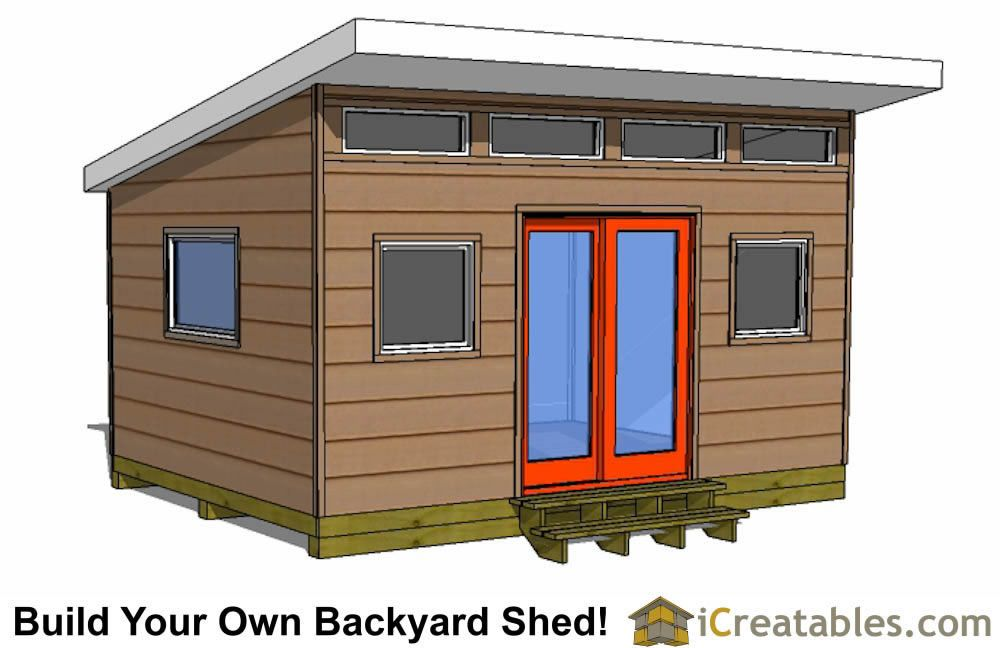 12x16 modern shed plans front view My pictures Pinterest