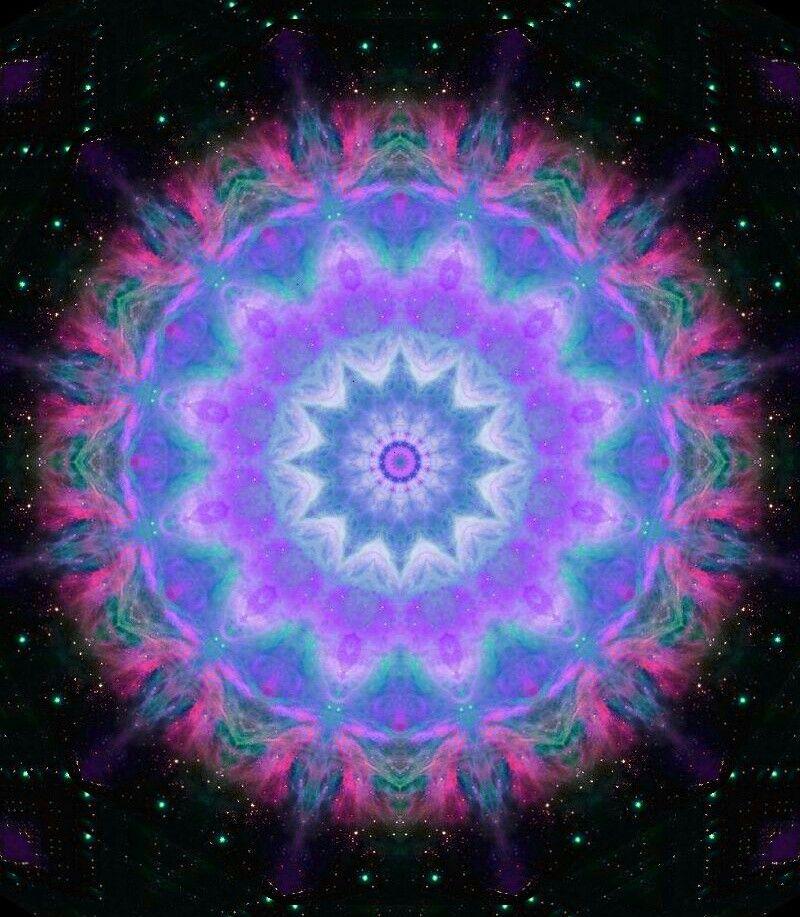 kaleidoscope mandala optical art by Sequin World